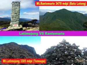 Puncak Rantemario dan Puncak Latimojong