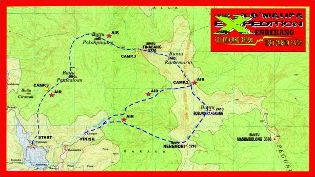Peta Jalur Latimojong Dusun Angin-angin