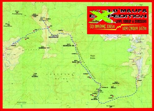 Peta Jalur Latimojong Dusun Tibussan